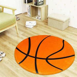 Sport Fans Basketball Round Mat Rug Nursery Carpets Bedroom Room Decorations