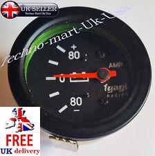 60MM  80-0-80 BAR AMMETER AMP METER DIAL GUAGE CAR VAN CLOCK BLACK (M614- B