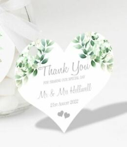 Personalised Wedding Favour Tag Thank You for Sharing our Special Day - EUS