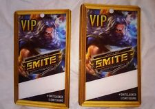 2 SMITE Laminated VIP all access Pass Atlanta 2014 LAUNCH TOURNAMENT DEV TEAM