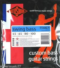 Rotosound RS66LN Swing guitare basse set nickel roundwound calibre 45-100 long scale