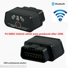 Black OBDII OBD2 Diagnostic Scanner Wifi Bluetooth ELM327 Car Diagnostics Tool