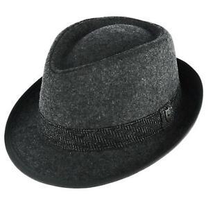New Ascentix Men's Wool Blend All Season Fedora Hat with Herringbone Band