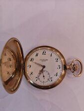 goldene Taschenuhr, 585er/14kt, Sprungdeckel/Savonette, JJ. Badollet/Uhrmacher
