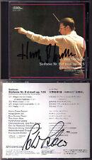 Herbert BLOMSTEDT & Peter SCHREIER Signed BEETHOVEN Symphony No.9 JAPAN CD