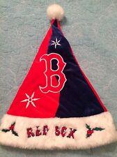 BOSTON RED SOX SANTA CLAUS HAT CHRISTMAS FOREVER COLLECTIBLES MLB HOLIDAY CAP