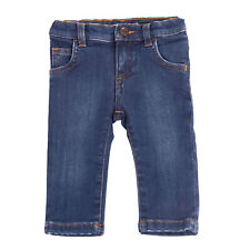 Rrp €180 Dolce & Gabbana Jeans Size 3-6M / 62-68Cm Blue Faded Elasticated Waist
