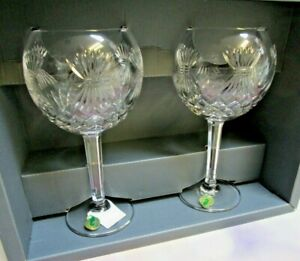 Waterford Crystal Toasting Goblets Millennium Collection 4th Toast PROSPERITY