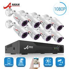 ANRAN 8CH 1080P CCTV Camera Security System Outdoor Home Surveillance HD DVR Kit