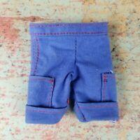 Vintage Ken Doll Size Blue Cargo Shorts Fashion Clothing OOAK Handmade ? Barbie