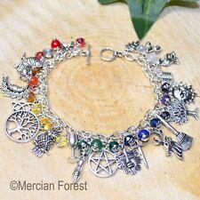 Pagan Ways Chakra Charm Bracelet - Pagan Jewellery, Wicca, Witch, Meditation