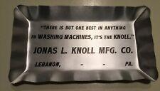 Rare Early 1900s Lebanon PA Tip Tray Ash Tray Jonas L Knoll Washing Machine Co