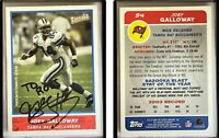 Joey Galloway Signed 2004 Bazooka #94 Card Tampa Bay Buccaneers Auto Autograph