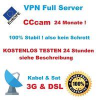 VPN Service 24 Monate CCcam Dreambox vu+ SAT & Kabel Top Qualität nur 17,95 €