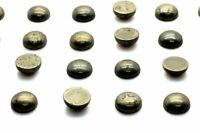 10mm Round Pyrite Cabochon Smooth Loose Natural Gemstone Bulk Sale DIY Jewelry