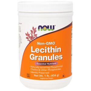 Lecithin Granules, NON-GMO 1 lb (454g)- NOW Foods.