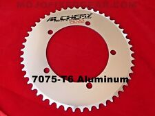 """Mojo Alchemy Fixed Gear 49t Chainring 7075-t6 * 130 Mm BCD Track 1/8"""" - Silver"""