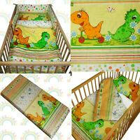 baby BEDDING set crib cot Dino Orange DUVET bumper MOSES BASKET sheet BOY GIRL