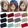 Winter Crochet Bow Knot Turban Knit Head Wrap Hairband Winter Ear Warm Headband
