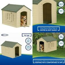 Pet Dog House Large Kennel Xxl Weather Shelter Durable Outdoor Puppy Vinyl Door