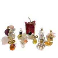 Mixed Lot of 18 Mini Perfume Parfum Some Full & Empty Bottles Vintage Fragrances