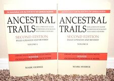 Ancestral Trails Guide to British Genealogy Volumes 1-2 Set Revised Mormon PB