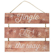 Jingle all the Way Plaque Wall Hanging Sign Christmas Decoration