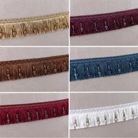 Luxury Exquisite Curtain Sewing Beaded Tassel Fringe Trim Pom Pom 6 Colours