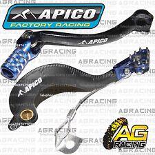 Apico Black Blue Rear Brake & Gear Pedal Lever For Yamaha YZ 250F 2006-2009 Moto