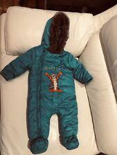Turqoise Snowsuit Romper Jumpsuit coat Age 6-9 Months By Disney Baby Tigger