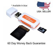 All In One Micro SD to USB Multi-Card Memory Card Adapter Reader Supports 64GB -