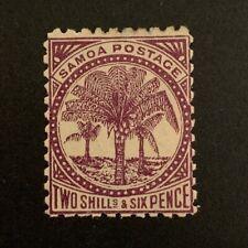 Western Samoa 1886 2s6d MLHOG VF B8/72  Great Coll A Rare Find