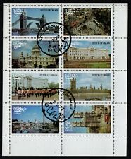 STATE OF OMAN, USED MINI SHEET OF 8 ARCHITECTURE & FAMOUS WORLD SITES, YEAR 1977