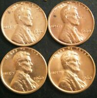 1960 PD Small & Large Date Lincoln Pennies Cents Coins Uncirculated Minor Issues