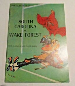 1962 South Carolina Gamecocks Football Program vs. Wake Forest - 10/13/1962 Game