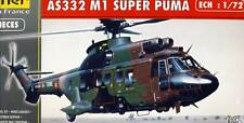 HELLER AEROSPATIALE Super Puma as332 m1 Modèle-Kit 1:72 SUISSE FRANCE Kit