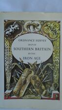 RARE 1975 ORDNANCE SURVEY MAP BOOK S BRITAIN IRON AGE Lots facts diagrams maps