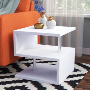 Floor Shelf End Table Sofa Side with Storage Living Room Bedroom Furniture Stand