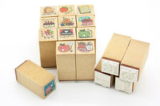 16 Pcs Diary Series Wood Rubber Stamp Set Scrapbook Card Journal Lucky Date Time