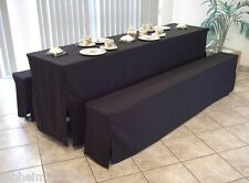 1x Tisch - Husse, 70 x 220cm bodenlang, Farbe SCHWARZ, bügelleichte Qualität