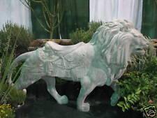 4 1/2 ft Fiberglass CAROUSEL LION outdoor garden statue