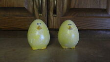 2 Ceramic Easter Egg  Chicks  Handpainted