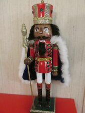 African American Christmas  Nutcracker Ethnic Black  Royal King BLUE Robe Flaw