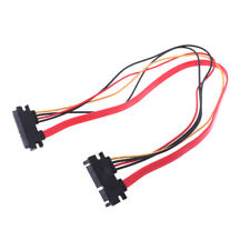 1Pc 50CM 22P SATA 7+15Pin M/F Serial Data Power Combo Cable Power Extension Cord