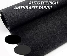 Autoteppich Anthrazit Schwarz Oldtimer Kofferraum Innenraum Meterware 9,90€ QM