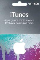 Apple iTunes Gift Card NO VALUE Rechargable $15-$500  (IL/RT6-S36-NIB)