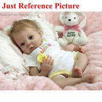 22'' Lifelike Newborn Silicone Reborn Baby Dolls toys Handmade Dolls Model Kits