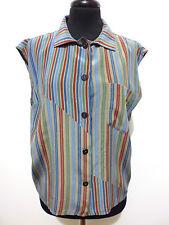 VITALIANO PANCALDI VINTAGE '80 Camicia Donna Seta Silk Woman Shirt Sz.L - 46