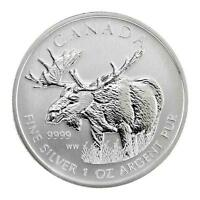 Brand New 2012 Canadian Silver Moose 1oz Bullion Coin - Only 3 left !