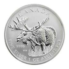 New 2012 Canadian Silver Moose 1oz Bullion Coin